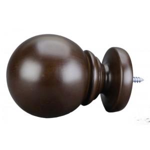 "Belle of the Ball Finial Walnut 2""~Each"