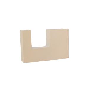 "Flushmount Bracket for 2"" Square Curtain Rod~3-1-2~Return~Each"