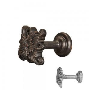 Bronze/Black Floral Tieback~Pair