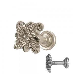 Antique Silver Floral Tieback~Pair