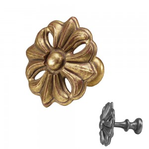 Gilded Gold Fleur Top Treatment/Tieback~Each