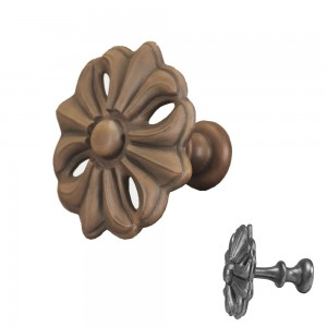 Faux Wood Fleur Top Treatment/Tieback~Each