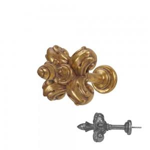 """Gilded Gold Fleur De Lis Drapery Tieback~5"""" Wide~Each"""