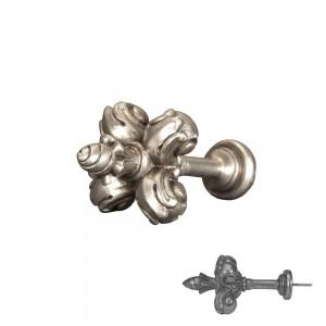 Antique Silver Fleur De Lis Tieback~Each