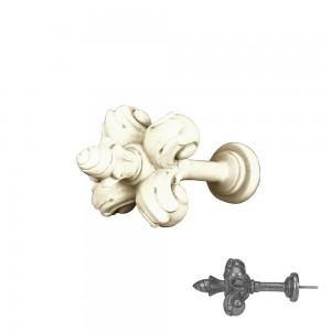 """Aged White Fleur De Lis Drapery Tieback~5"""" Wide~Each"""