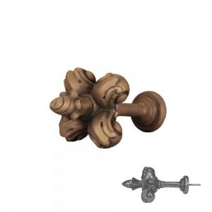 Faux Wood Fleur De Lis Drapery Tieback~Each