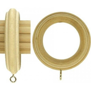 """Fluted Wood Curtain Ring for 3"""" Curtain Rods~Each"""