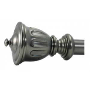 "Fluted Urn Finial for 1"" Curtain Rod~Pair"