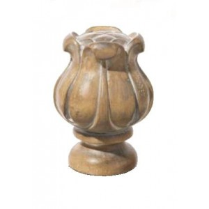 "Pickled Oak Tulip Finial for 2"" Rod Diameter~Each"