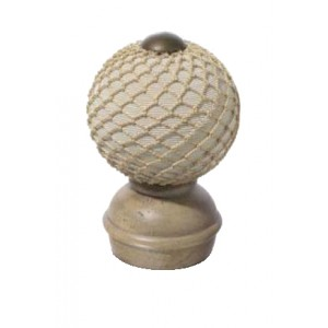 "Stone Threaded Finial #2 for 2"" Rod Diameter~Each"