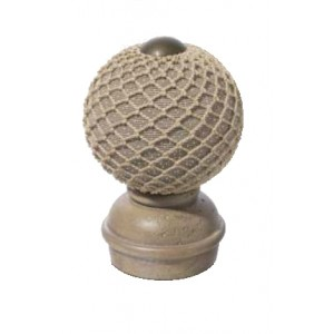 "Stone Threaded Finial #3 for 2"" Rod Diameter~Each"