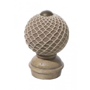 "Stone Threaded Finial #4 for 2"" Rod Diameter~Each"