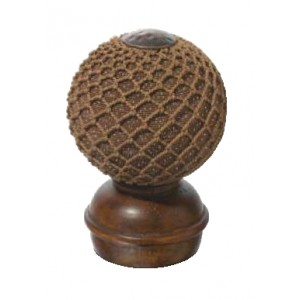 Chestnut Threaded Finial#1~Each