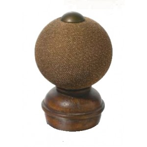 Chestnut Threaded Finial #2~Each