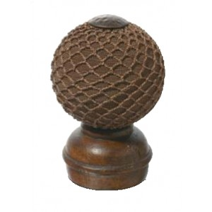 Chestnut Threaded Finial #4~Each