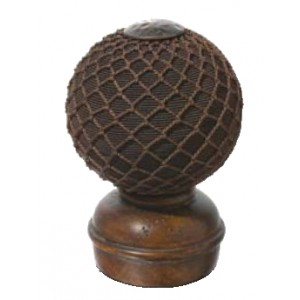 Chestnut Threaded Finial #5~Each