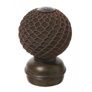 Chocolate Threaded Finial #1~Each