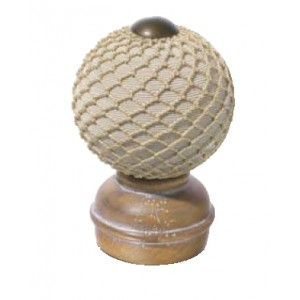 Pickled Oak Threaded Finial #2~Each