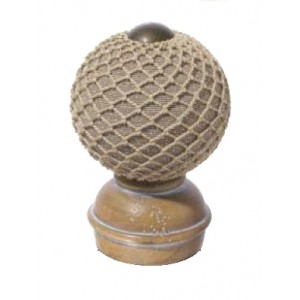 Pickled Oak Threaded Finial #3~Each