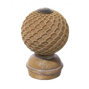 Pickled Pine Threaded Finial #4~Each