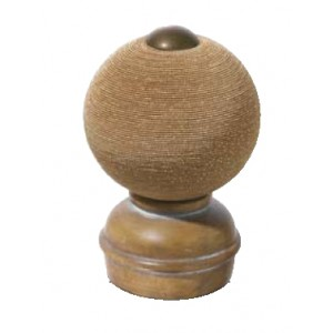 Pickled Oak Threaded Finial #1~Each