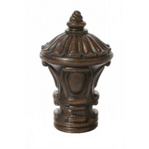 "Chocolate Inca Finial for 2"" Rod Diameter~Each"
