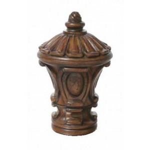 "Chestnut Inca Finial for 2"" Rod Diameter~Each"