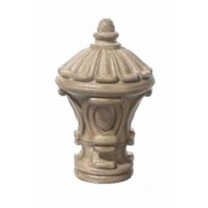 "Stone Inca Finial for 2"" Diameter Rod~Each"