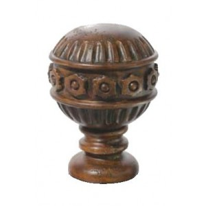 "Chestnut Dome Finial for 2"" Rod Diameter~Each"