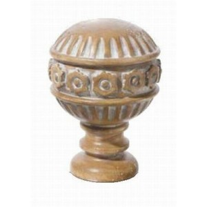 "Pickled Oak Dome Finial for 2"" Rod Diameter~Each"