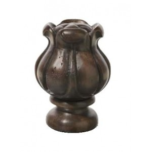 "Chocolate Tulip Finial for 2"" Rod Diameter~Each"