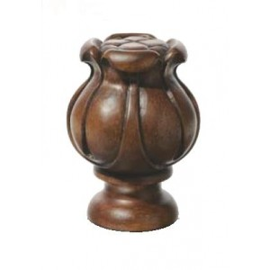 "Chestnut Tulip Finial for 2 "" Rod Diameter~Each"
