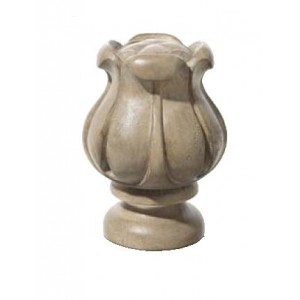 "Stone Tulip Finial for 2"" Rod Diameter~Each"