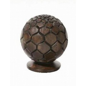 "Chocolate Octagonal Wood Carved Finial for 2"" Rod Diameter~Each"