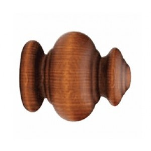 """Forest Odiseia Finial for 1 3/8"""" Wood Drapery Rod"""