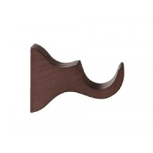 """Forest Wood Bracket for 2"""" Drapery Rod~4"""" Projection~Each"""