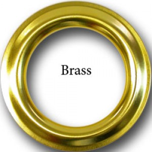 """#12 Polished Brass Metal Grommets for 1 1/8"""" Curtain Drapery Rods~1 9/16"""" ID~Pack of 12"""