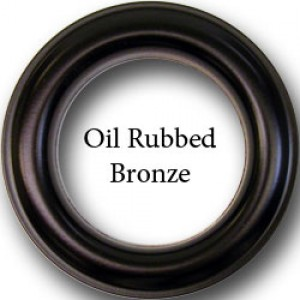 "#12 Oil Rubbed Bronze Metal Grommets for 1 1/8"" Curtain Drapery Rods~Pack of 12"
