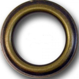 """#12 Antique Brass Metal Grommet for 1 1/8"""" Curtain Drapery Rods~Pack of 12"""
