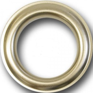 """#12 Matte Nickel Metal Grommet for 1 1/8"""" Curtain Curtain Drapery Rods~Pack of 12"""