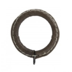 """Leather Curtain Ring for 1 3/8"""" Drapery Rods~Each"""