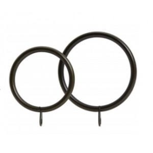 """Small or Large Metal Curtain Ring for 1 3/8"""" Drapery Rods~7 Pack"""