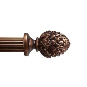 "Bergamo Drapery Curtain Rod Set~Numerous Rod Lengths Available~1 3/8"" Diameter"