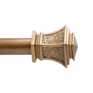 """Diamante Drapery Curtain Rod Set~Numerous Rod Lengths Available~1 3/8"""" Diameter"""