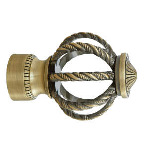 """Sterling Cage Finial for 1 3/8"""" Curtain Rod~Each"""