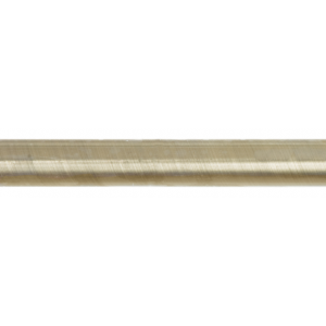 "1"" Iron Rod in Brushed Brass~by the foot"