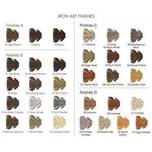 Iron Art Finish Samples~Each