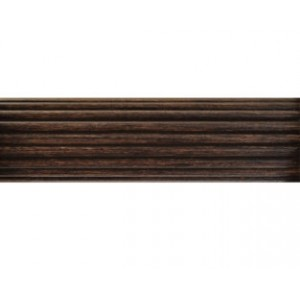 "2"" Fluted Wood Curtain Rod (by the foot)"