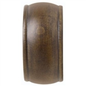 "Kirsch 1 3/8"" Wood Trends End Cap Finial ~ Pair"