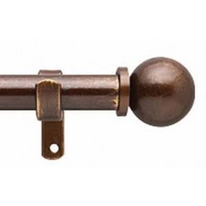 "Ball 1"" Curtain Rod Set"